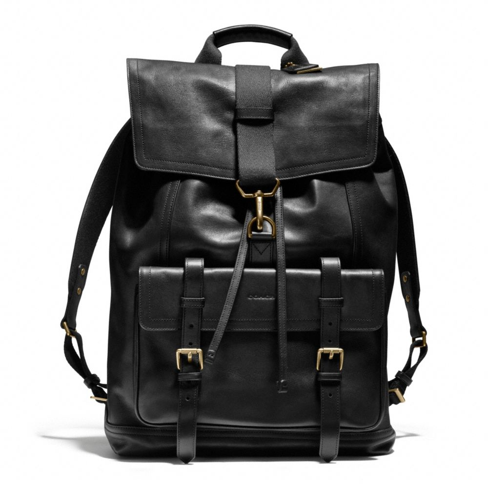Coach Bleecker Backpack In Leather in Black for Men | Lyst