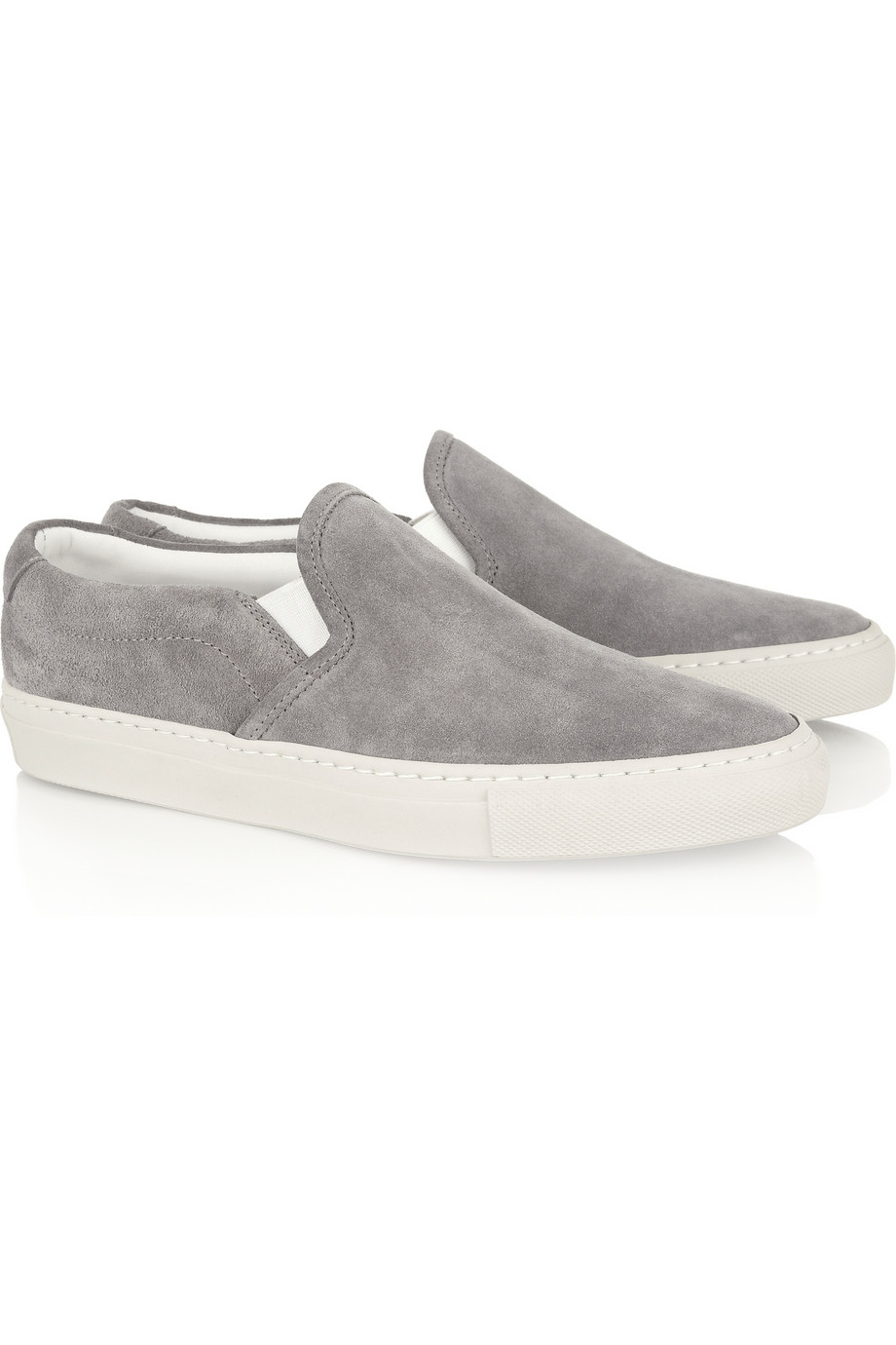 Common Projects Suede Sneakers in Gray - Lyst e9b6d0ccc