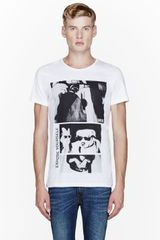 Diesel White Expose Yourself Print T_shirt - Lyst