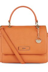DKNY Saffiano Leather Shoulder Bag - Lyst