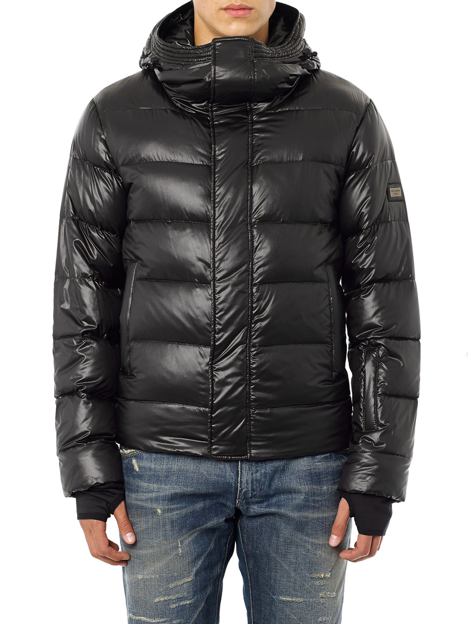 Dolce Amp Gabbana Ski Down Jacket In Black For Men Lyst