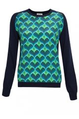 Emma Cook Hearts Silk Front Knit Jumper - Lyst