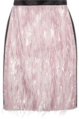 Erdem Aysha Feathered Organza and Silk Skirt - Lyst