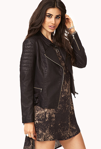 Black Leather Jacket Women Forever 21