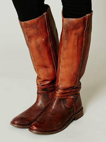 Frye 500 Miles Distressed Boot In Brown Cognac Lyst