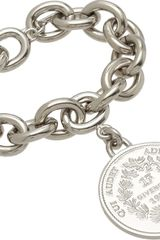 Givenchy Palladium Small Medallion Bracelet - Lyst