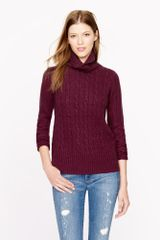 J.Crew Preorder Cambridge Cable Chunky Turtleneck Sweater - Lyst