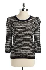 Kensie Striped Sweater - Lyst