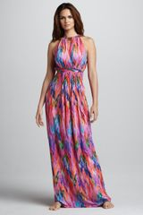 Matthew Williamson Tieback Halter Coverup Maxi Dress - Lyst