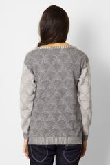 Micaela Greg Shell Pullover in Gray - Lyst