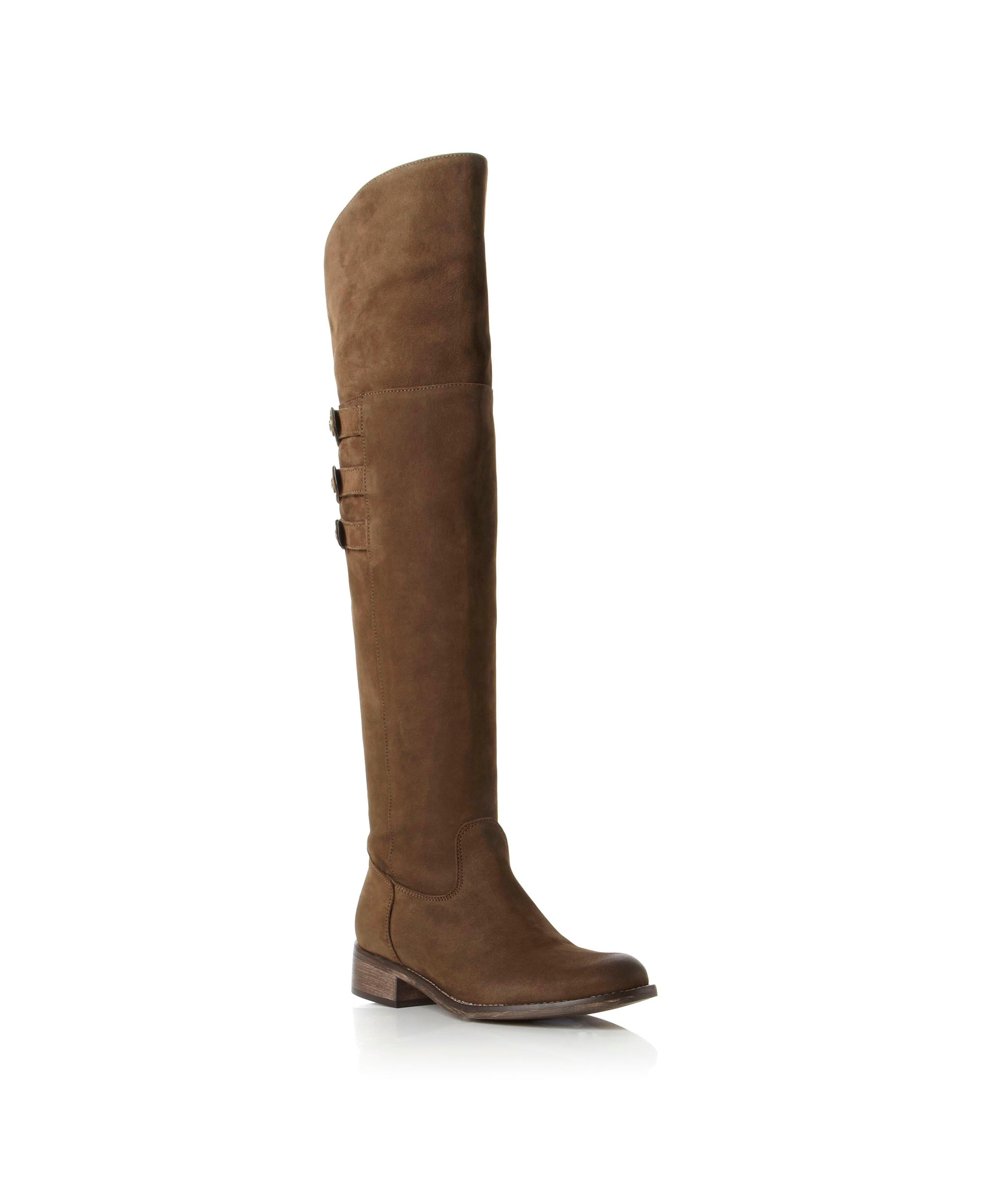 Pied A Terre Prior Over The Knee Riding Boots In Brown Lyst