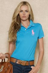 Pink Pony Skinny Fit Polo - Lyst