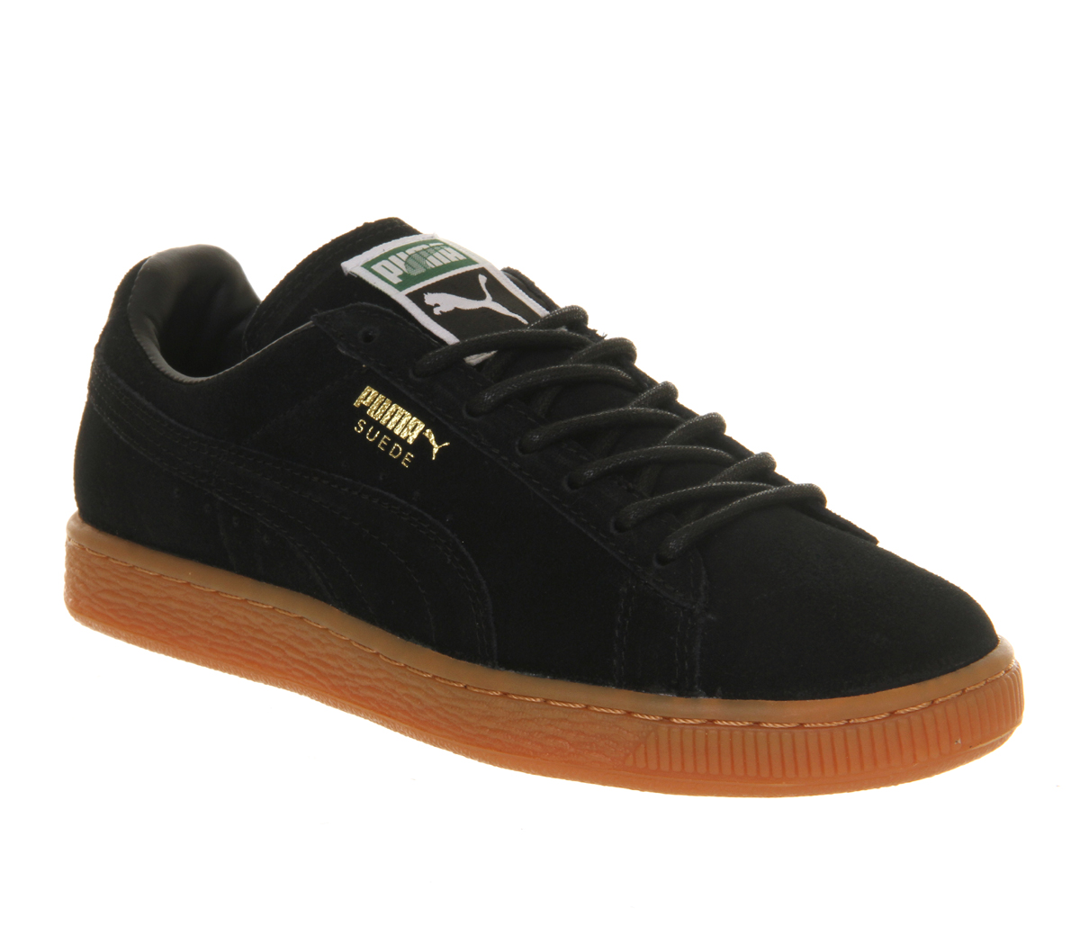 puma suede classic in black for men lyst. Black Bedroom Furniture Sets. Home Design Ideas