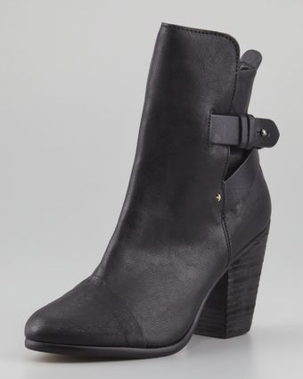Rag & Bone Kinsey Leather Ankle Boot Black - Lyst