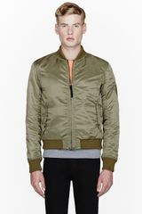 Rag & Bone Green Bastion Bomber Jacket - Lyst