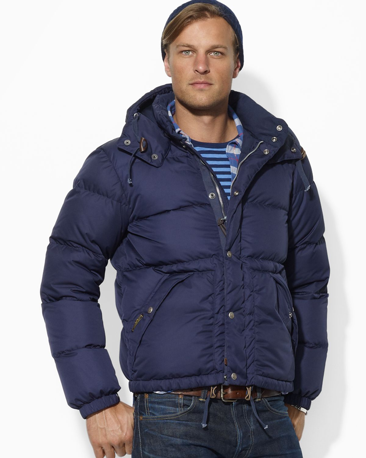 ralph lauren polo elmwood down jacket in blue for men lyst. Black Bedroom Furniture Sets. Home Design Ideas