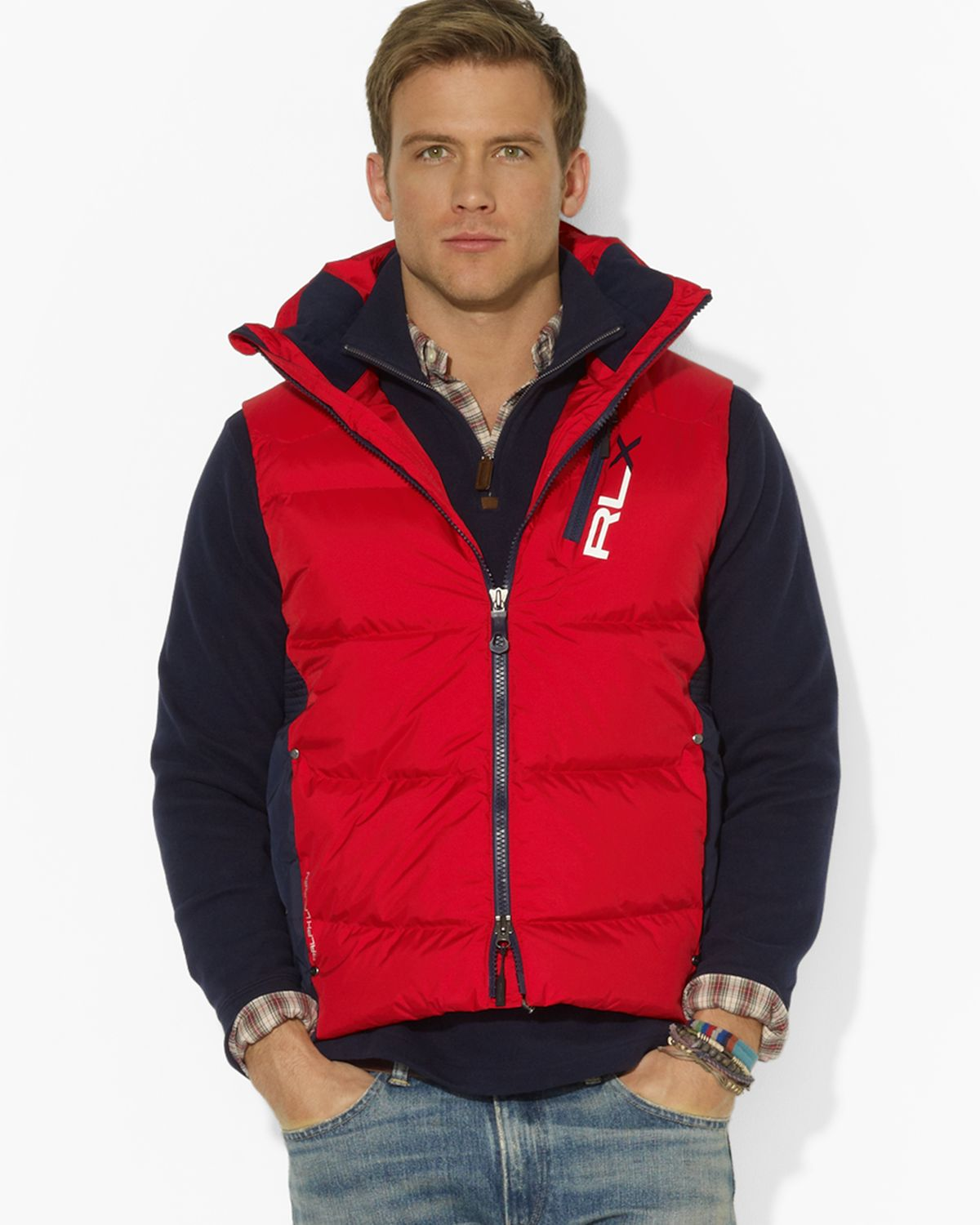 Ralph Lauren Fashion Show At New York: Ralph Lauren Polo Rlx Core Down Vest In Red For Men
