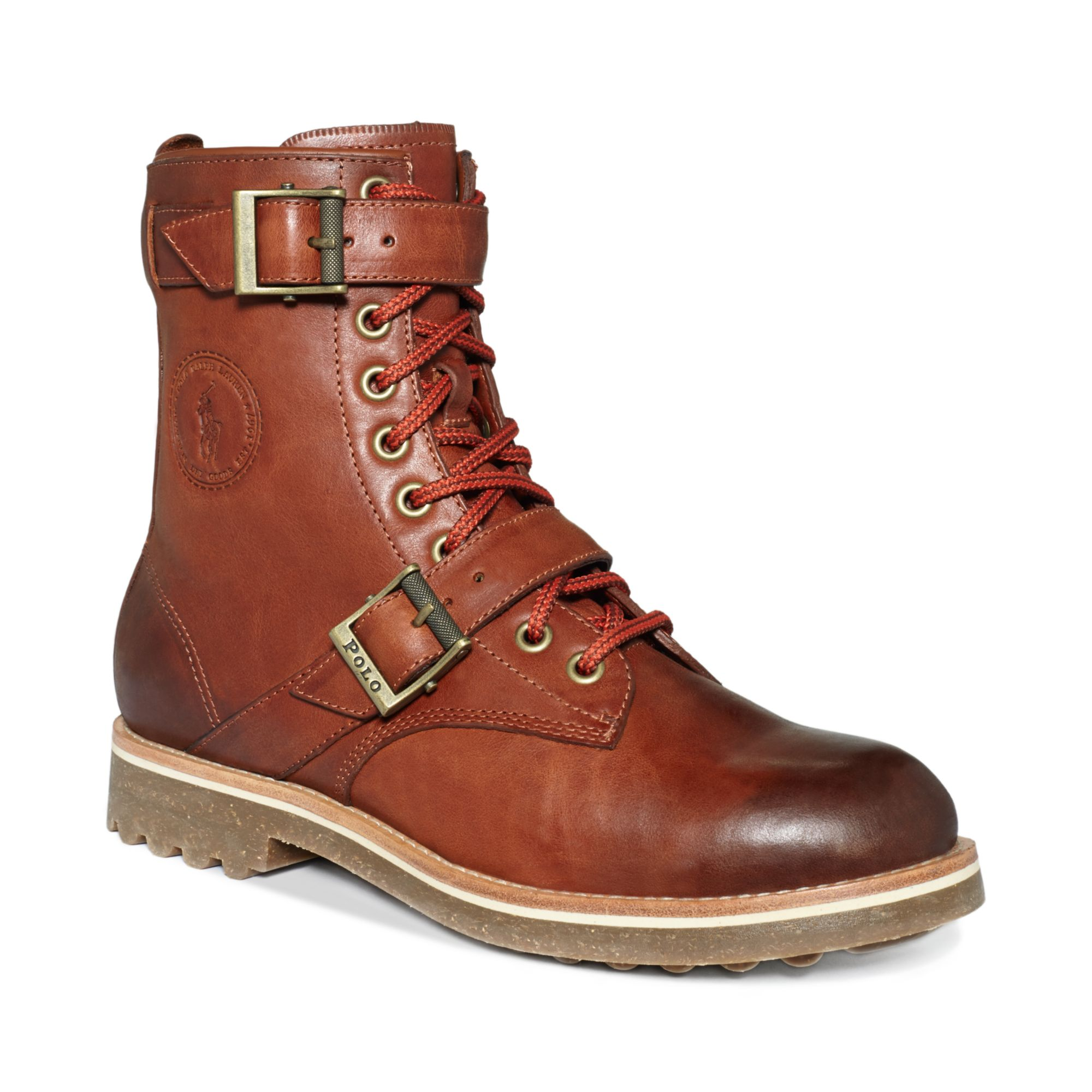 polo ralph maurice boots in brown for syrup