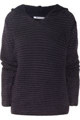 T By Alexander Wang Acidwash Chunkyknit Hooded Wool Sweater - Lyst