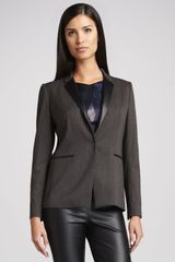 T Tahari Nayarit Leather-trim Jacket - Lyst