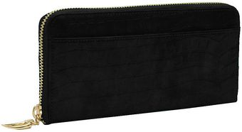 Tusk Antique Croco Zip Clutch Wallet - Lyst
