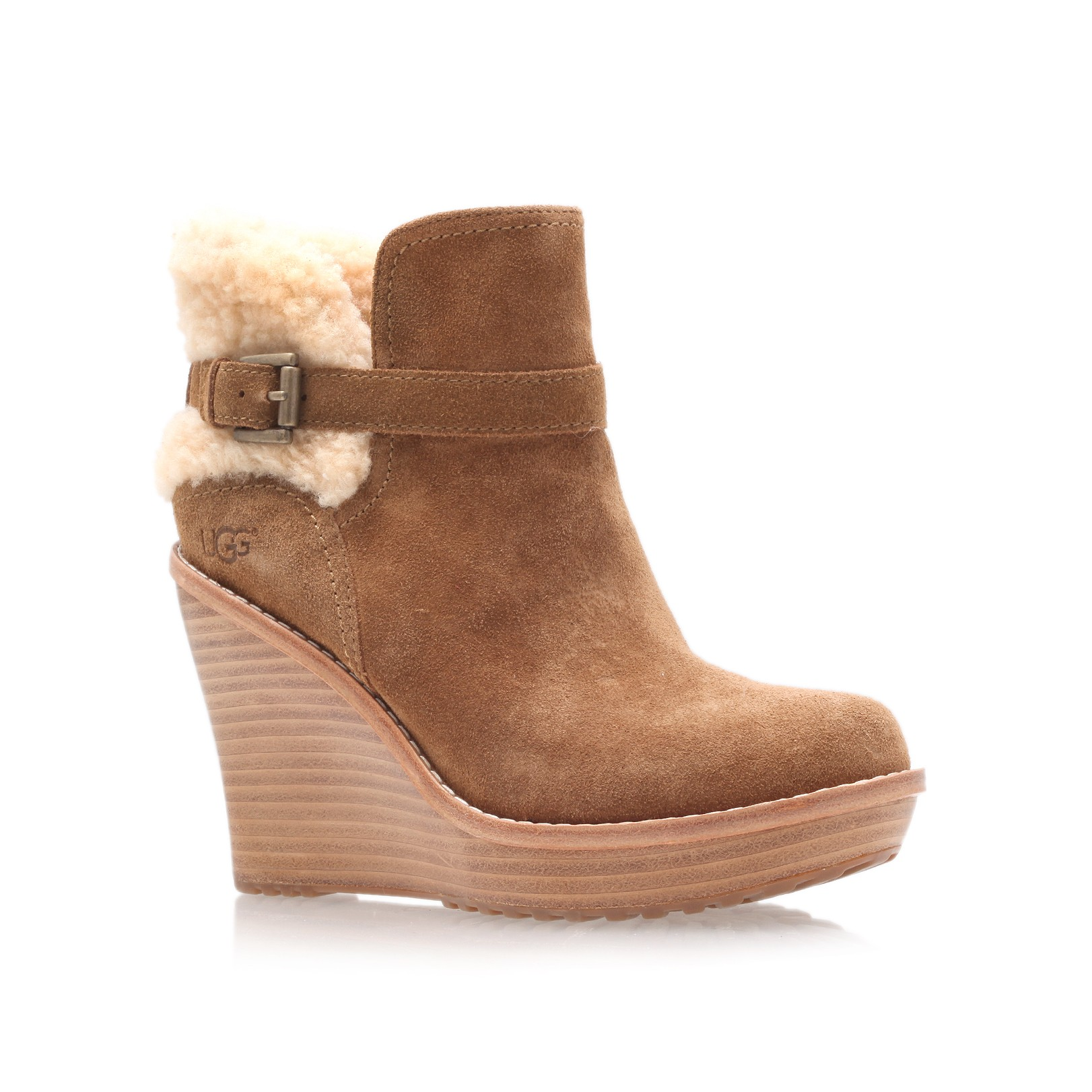 ugg anais ankle boots in brown lyst