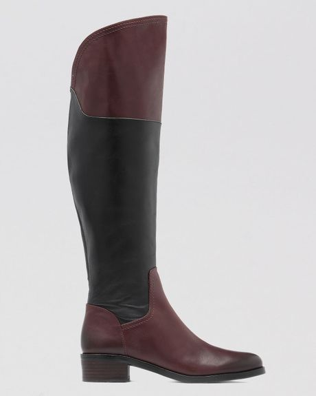 vince camuto the knee boots vatero two tone in