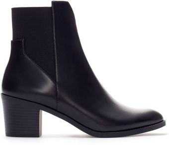 Zara High Heel Pointed Ankle Boot - Lyst