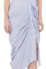Boy by Band Of Outsiders Sleeveless Striped Shirt Dress - Lyst
