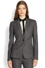 Burberry Check Wool Blazer - Lyst