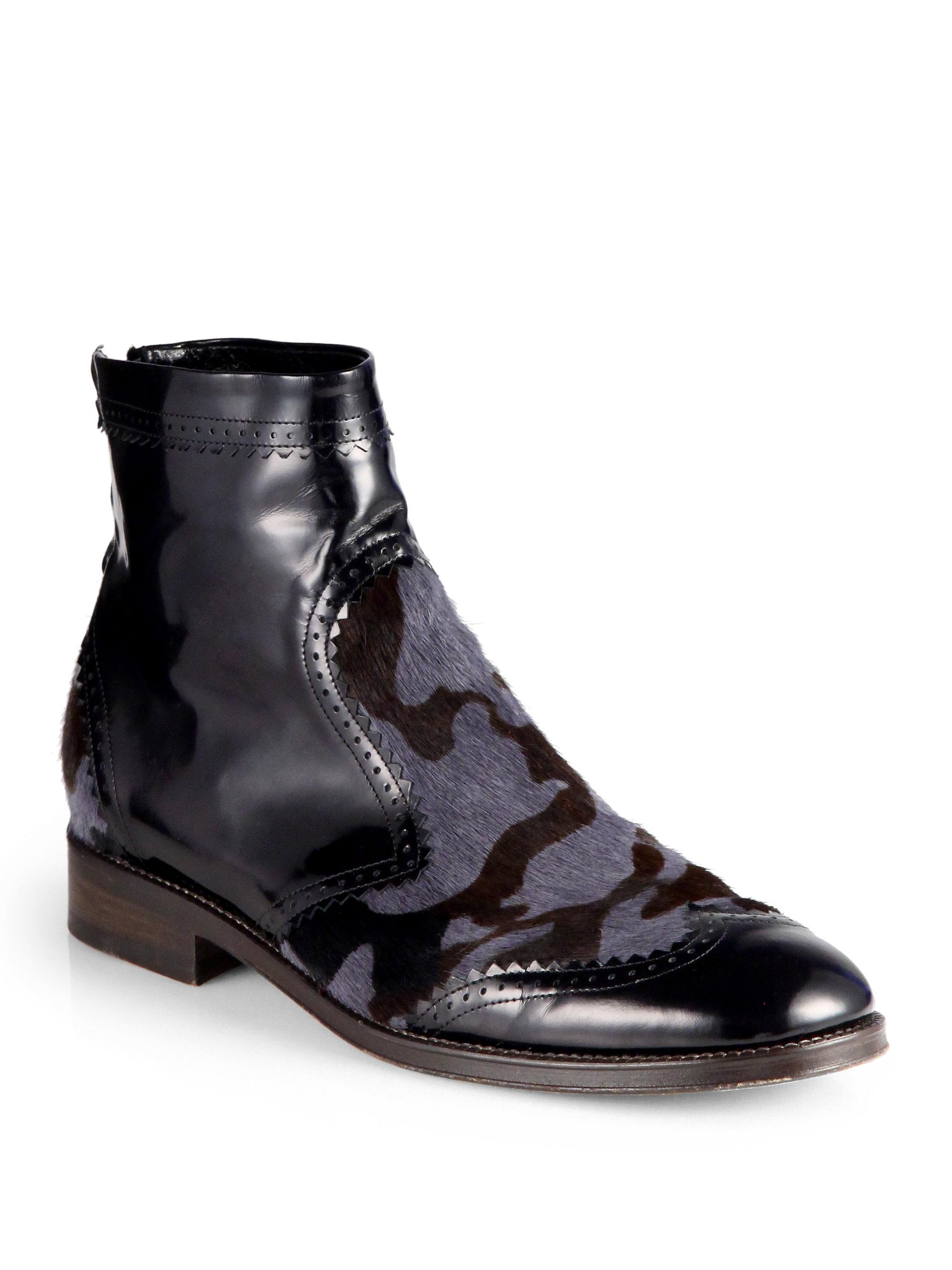 Mens Calf Hair Shoes