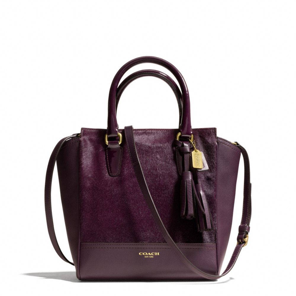 Coach Legacy Mini Tanner Crossbody in Haircalf Brass/Aubergine | coach fall 2013 handbags