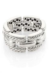 David Yurman Sterling Silver Wide Link Bracelet - Lyst