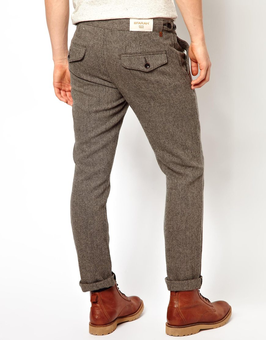 Stretch Wool Dress Pants The best way to look your sharpest at work without fully suiting up. These classic wool dress pants in a more flattering fit are now available in up to 4 inseams, so a trip to the tailor is off the agenda.