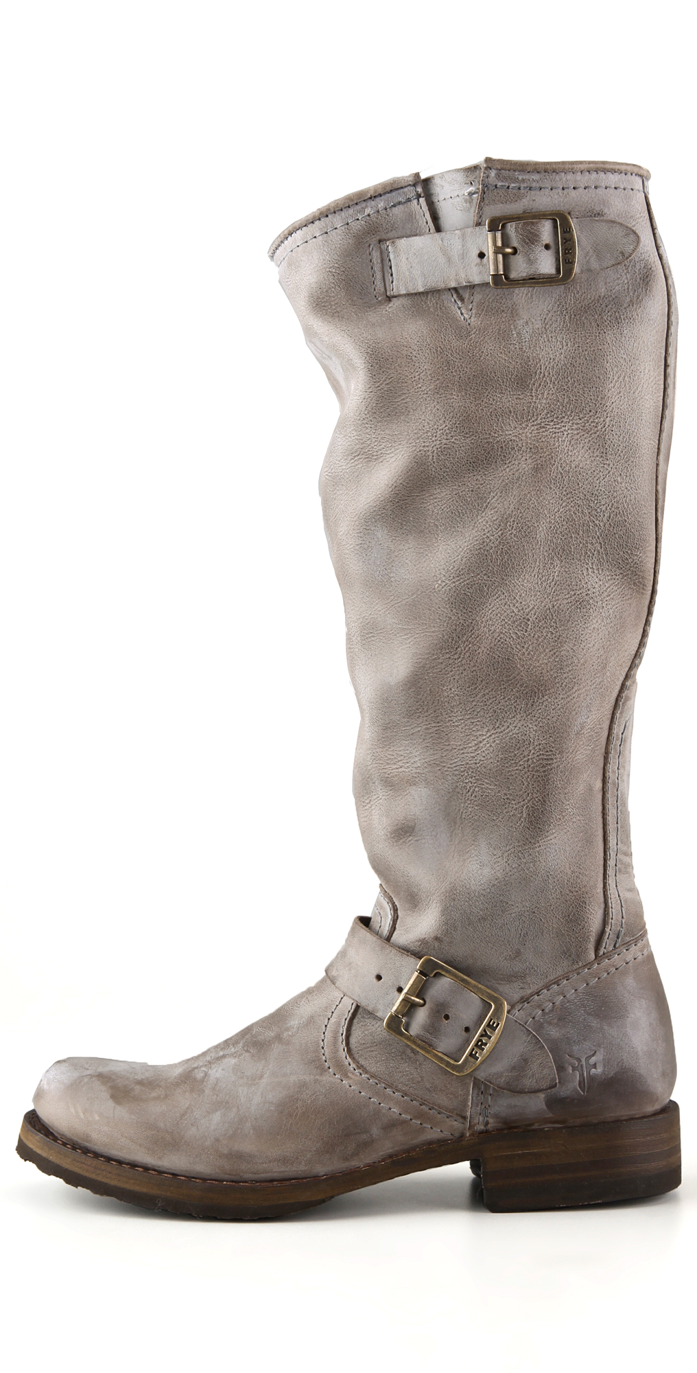 Lyst Frye Veronica Slouch Boots In Gray