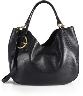Gucci Twill Leather Medium Shoulder Bag - Lyst