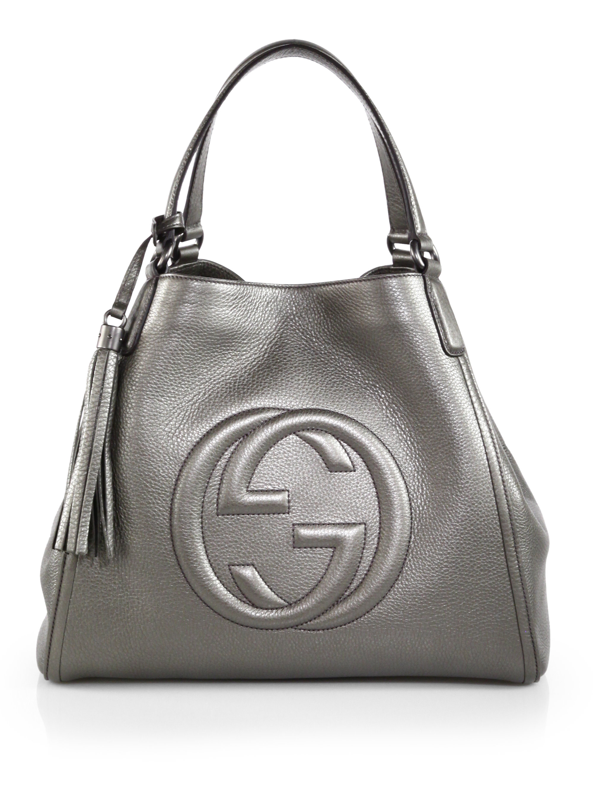 7c37d5f22 Gucci Soho Metallic Leather Shoulder Bag in Metallic - Lyst