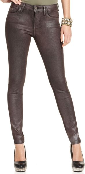 Guess Jeans Skinny Metallic Wash in Brown (Ash Metallic Wash) - Lyst