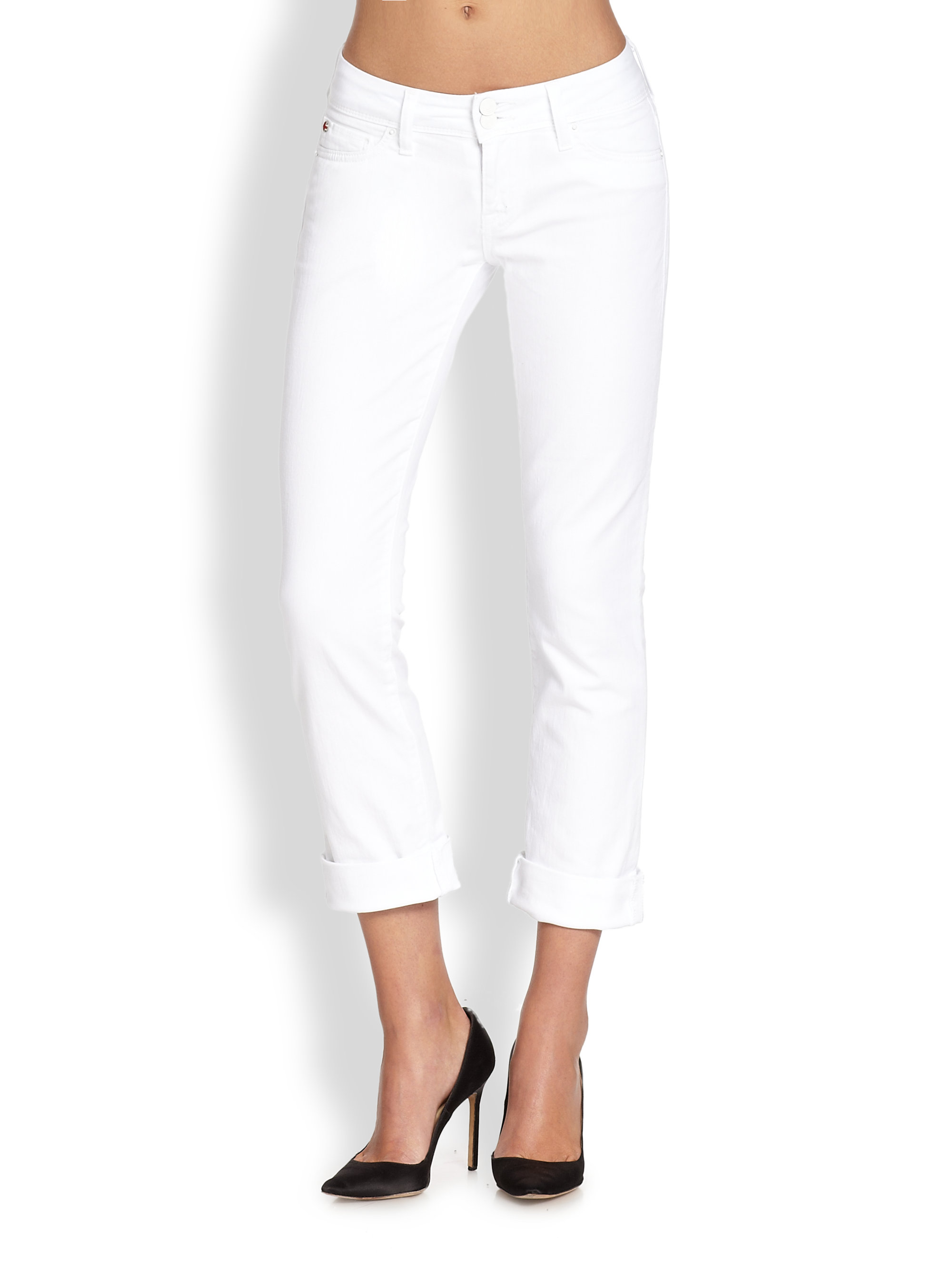 14d51942b39 Gallery. Previously sold at: Saks Fifth Avenue · Women's White Jeans