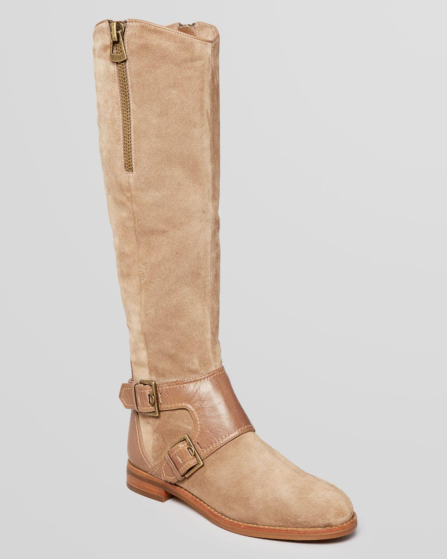 joan david flat boots heathly in black