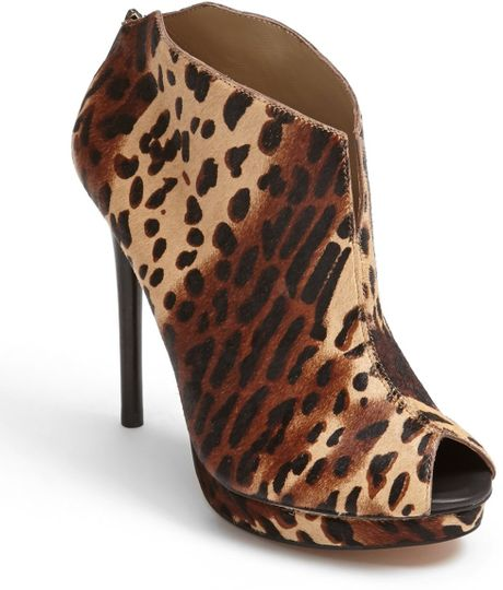 Kenneth Cole Test Time Bootie in Brown (Natural/ Brown Pony) - Lyst
