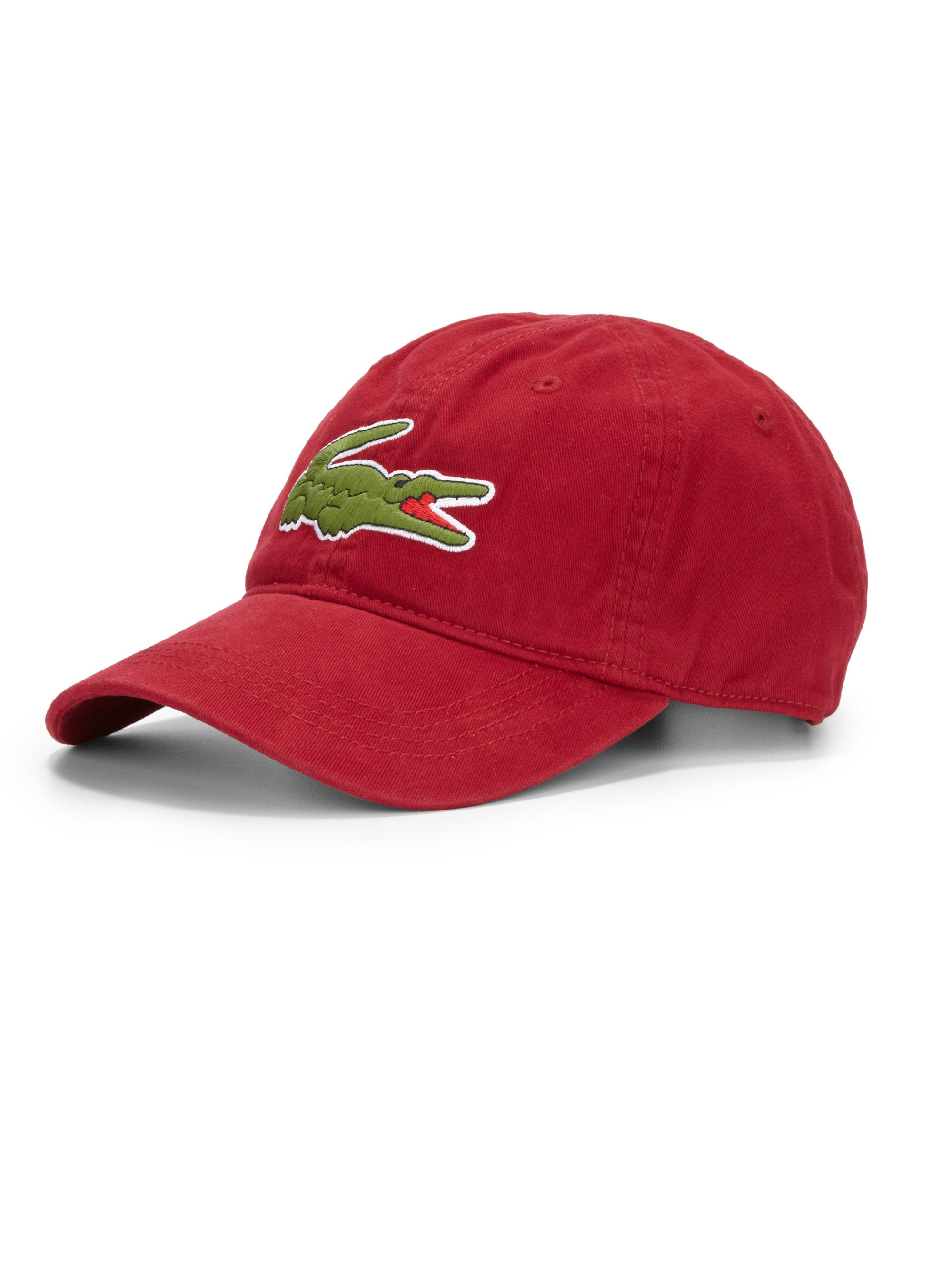 Lacoste Cotton Baseball Cap In Red For Men Bordeaux Lyst
