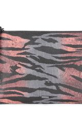 McQ by Alexander McQueen Printed Faux Leather Clutch - Lyst