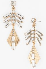 Natasha Couture Art Deco Fan Earrings - Lyst