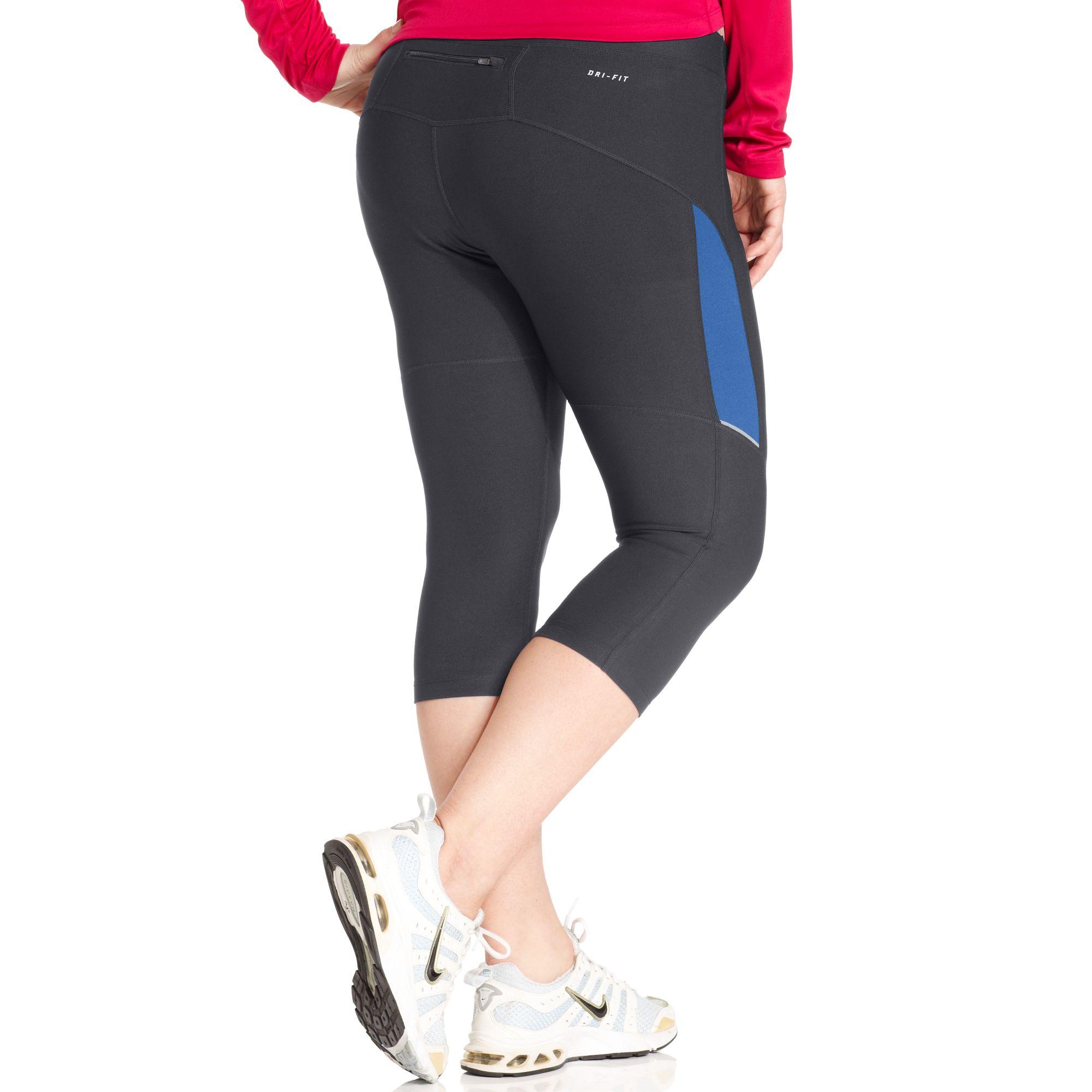 de37e060558e2 Lyst - Nike Drifit Active Capri Leggings in Gray