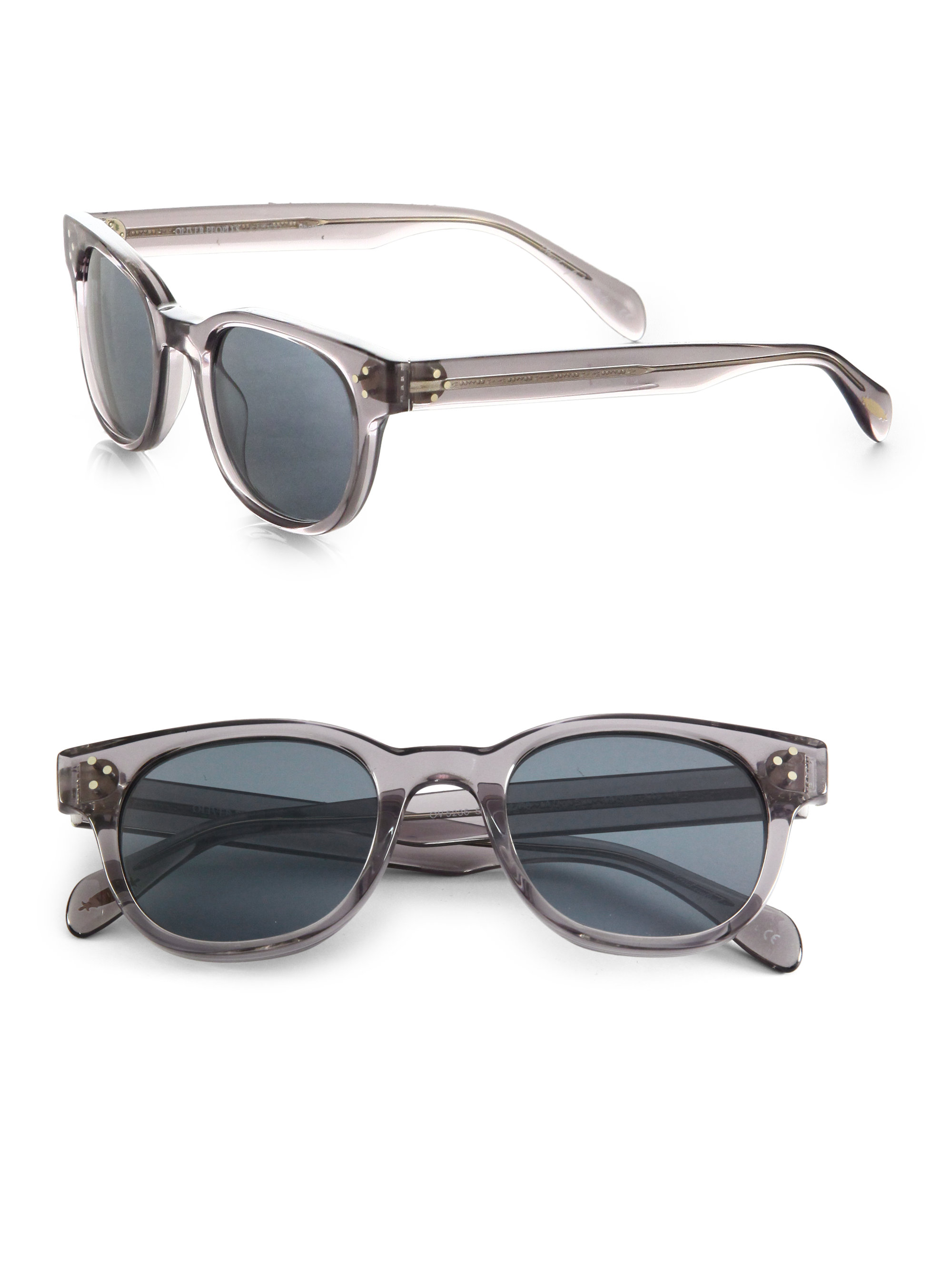 11634195b3 Lyst - Oliver Peoples Afton Sun Acetate Round Sunglasses in Gray