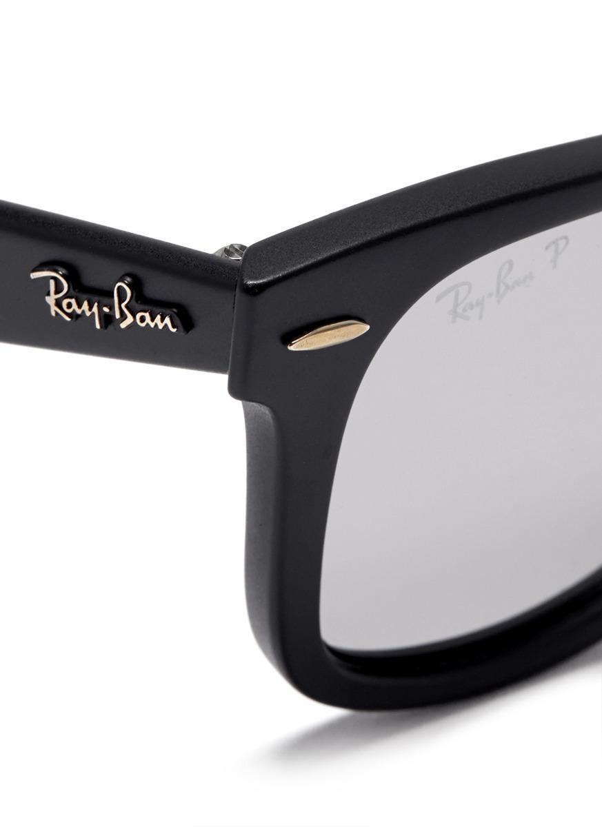14c89aab73 Lyst - Ray-Ban  original Wayfarer  Matte Acetate Sunglasses in Black ...