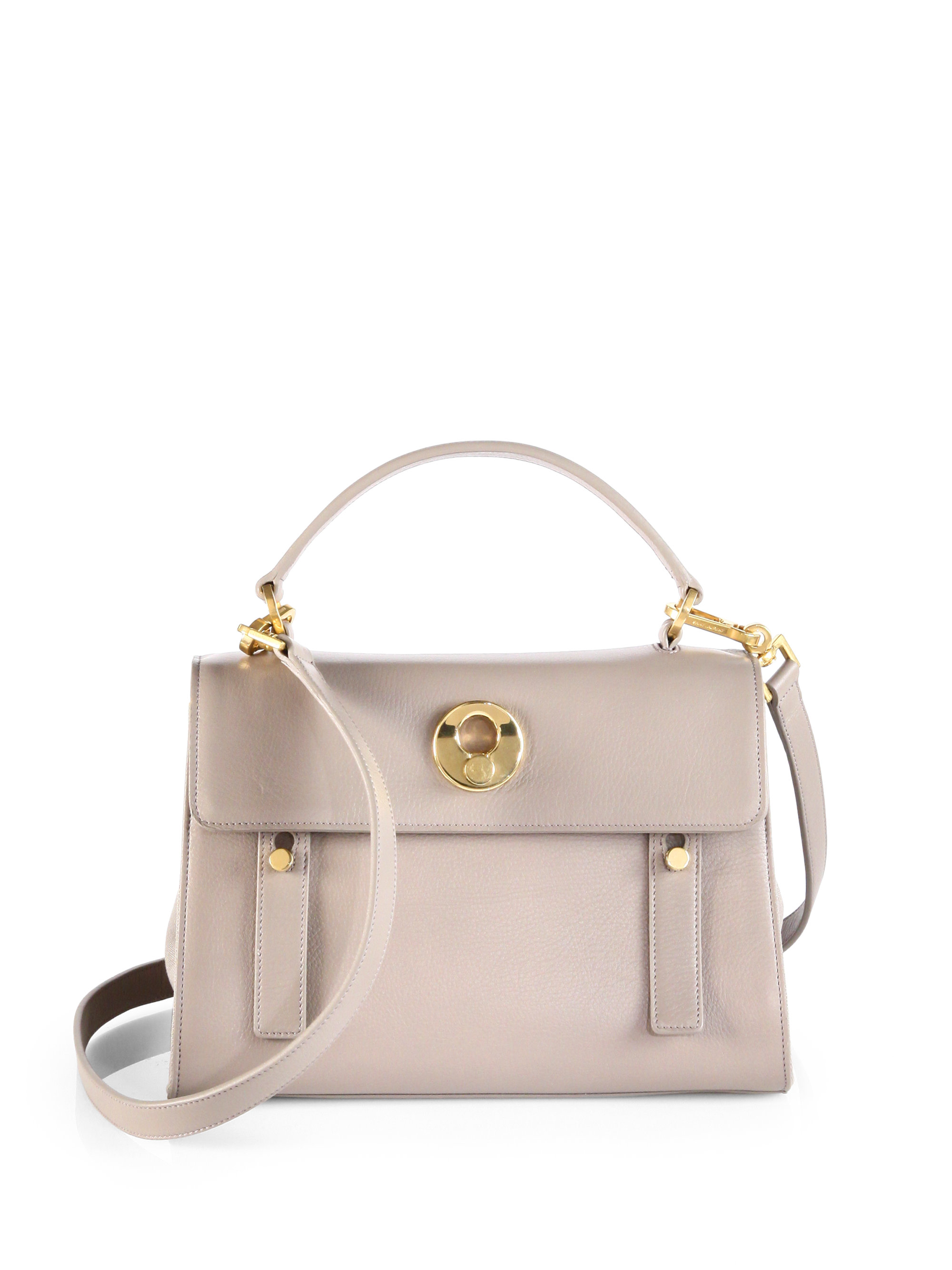 Yves Saint Laurent Monogram Canvas Tote Yves Saint