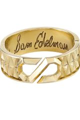 Sam Edelman Carved Goldtone Bangle Bracelet - Lyst