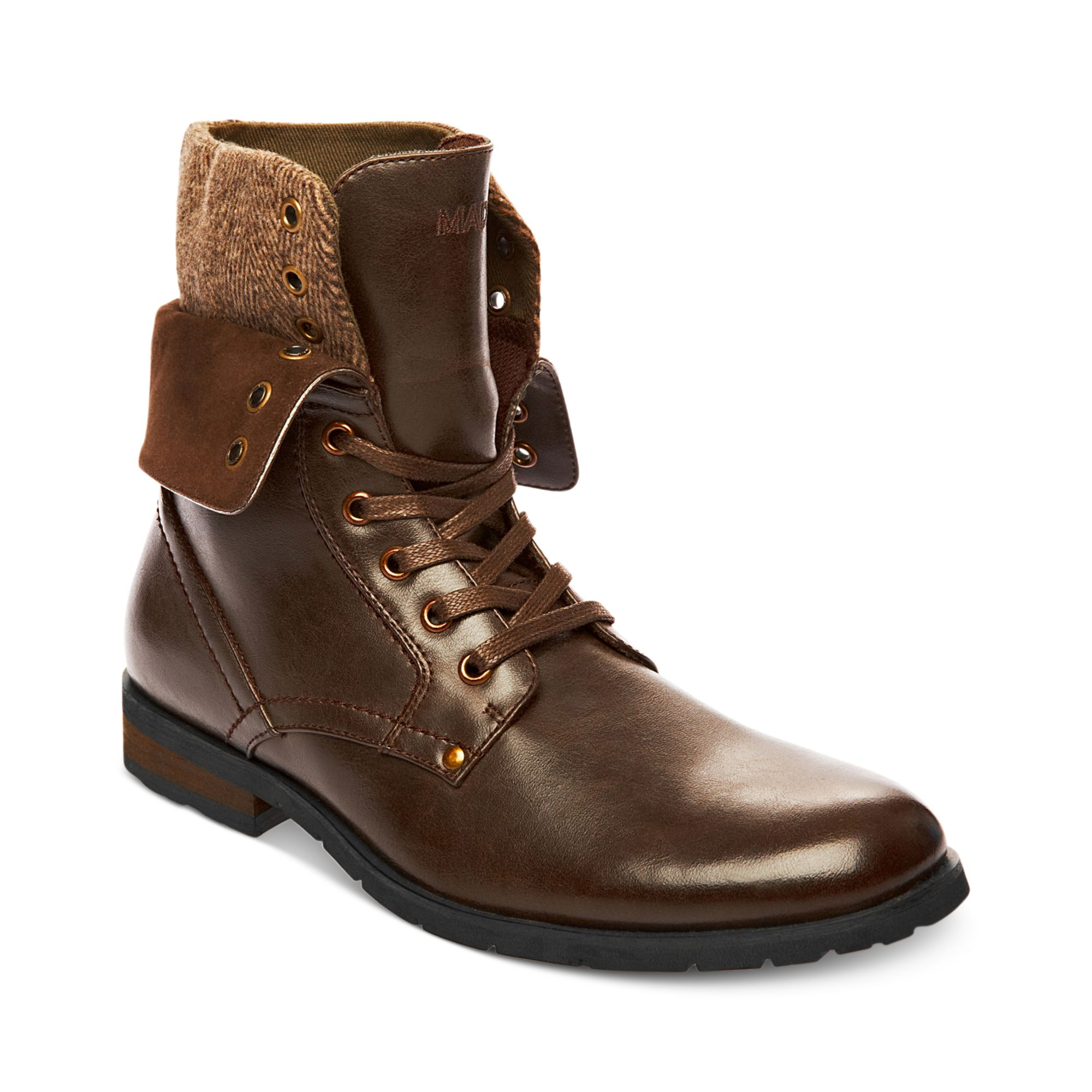 Steve Madden Madden Shoes Kegger Boots in Brown for Men | Lyst